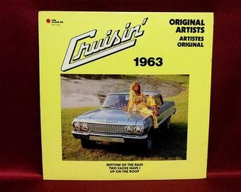 CRUISIN' 1963 - Original Artists - Vintage Vinyl Record Album