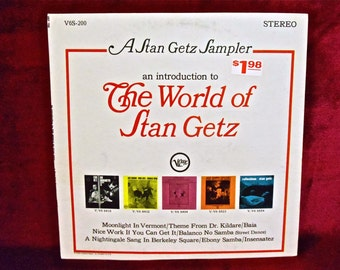 STAN GETZ - The World of Stan Getz - 1964 Vintage Vinyl Record Album