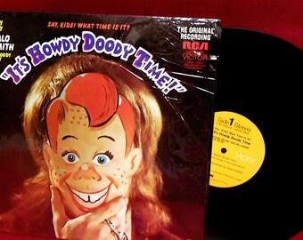 "the ""IT'S HOWDY Doody Time""  - Vintage PROMOtional Copy Vinyl Record Album"