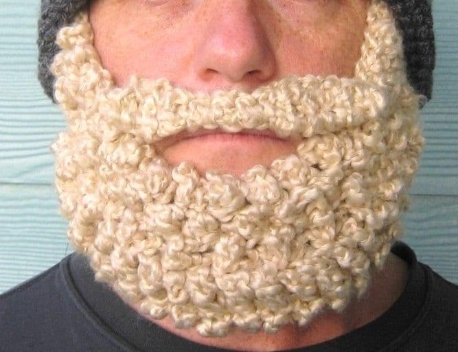 Crochet Beanie Beard Hat Pattern : Crochet Pattern Beard Beanie PATTERN Santa Claus Hat Photo