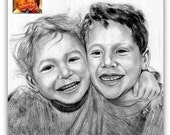 20% Discount- Custom Pencil / Charcoal Portrait Drawing Sketch From Your Photograph 12X8 - Best Birthday / Anniversary Gift Idea