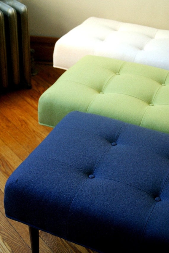 Custom made bench in Knoll upholstery