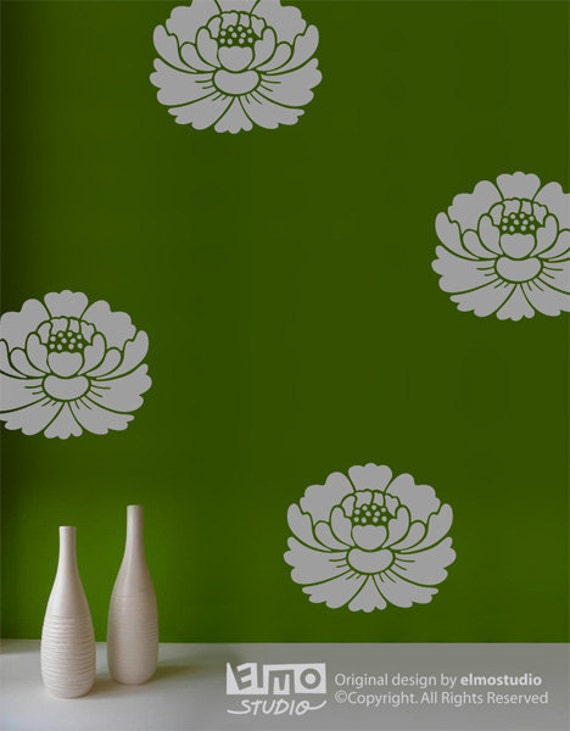 Lotus Flower Wall Decals Zen Home Decor Floral Wall Decor - Zen wall decals