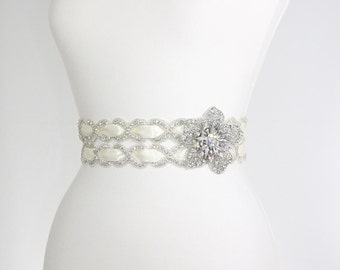 Flower Bridal Sash Belt,bridal Sash,crystal beaded belt,wedding sash rhinestone,flower sash,rhinestone belt,wedding gown belt