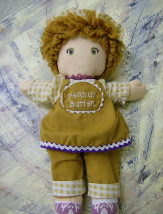 1980 Peanut Butter Hold the Jelly Plush Doll Amtoy MB0317T