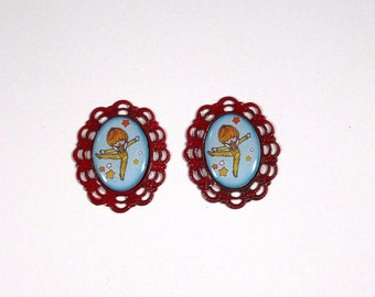 Rainbow Brite and the Color Kids Canary Yellow Cameo Earrings