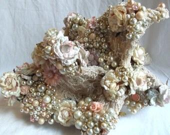 Bejeweled Bouquet, Floral Bridal Accessory, Jewelry Bouquet, Unique Victorian Wedding Bouquet
