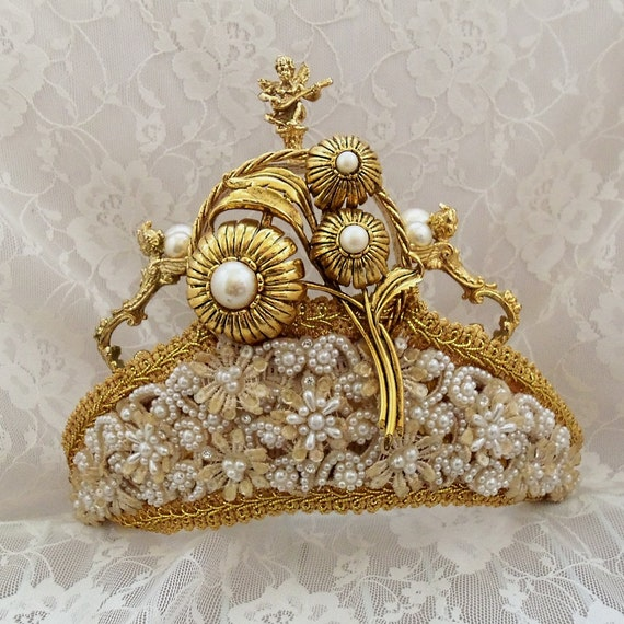 Renaissance Headpiece Royal Wedding Crown Gold by ...