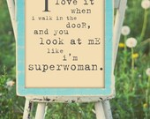 Superwoman Print.  8x10 Inspiring Photographic Print.