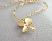 Dainty Orchid Necklace - 14k Gold Filled, Delicate Flower, Wedding Jewelry, Everyday Minimalist Flower Girl Bridesmaid Gifts