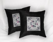 Punk Decorative pillows (set of 2) Home Sweet Home Skull Decorative Cushions 14x14 inch Alternative decor punk rock home