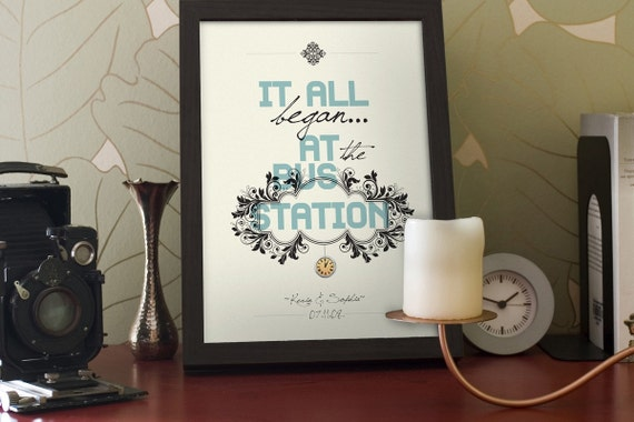"""Bridal shower gift / Wedding print / anniversary gift / engagement gift - """"Tell your story 2"""""""