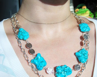 Chalk Turquoise Always Summer Necklace