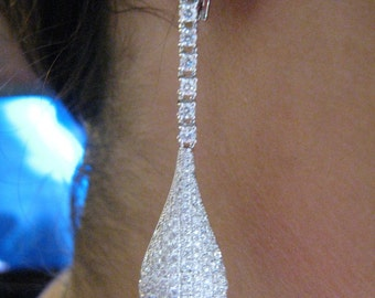 14k micro pave earring