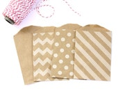 30% OFF SALE - 50 Kraft Bitty Bags (Treat Bags, Favor Bags, Gift Wrap, Envelopes) - 2.75 x 4 inches