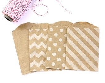 CLEARANCE SALE - 25 Kraft Bitty Bags (Treat Bags, Favor Bags, Gift Wrap, Envelopes) - 2.75 x 4 inches