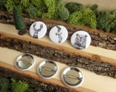 """Woodland Animal Pins - Deer, Bear, Osprey - Animal Pins - Friends of the Forest - Animal Pinback Button Badges - 1.5"""""""