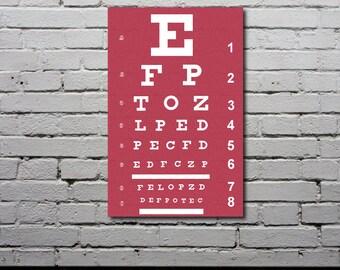 Eye Chart Poster - Personalized Typography Print  - Custom Art - Gift - Nursery Art - Modern Home Decor