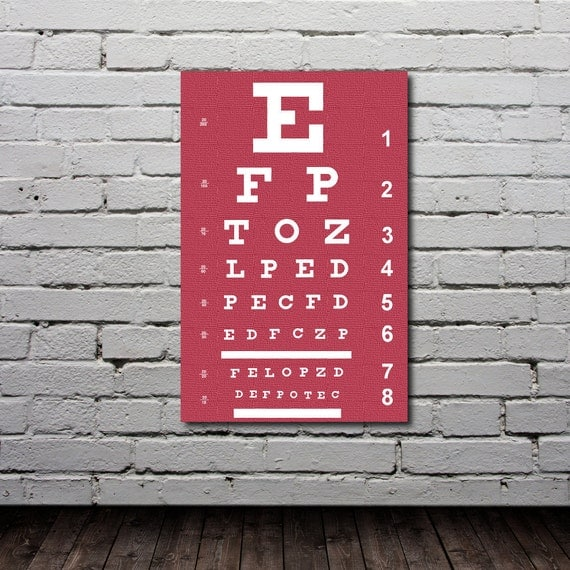Eye Chart Poster - Personalized Typography Print  - Custom Art - Gift - Nursery Art - Modern Home Decor
