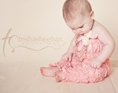 50% OFF Baby  pink Lace Petti Romper pants Outfit great for birthdays, perfect for Photo Props,Ready to ship...