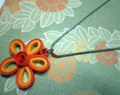 Quilled Flower Pendants (set of 3)