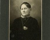 "Vintage Mounted Photo ""Grandmother Mae"", Photography, Paper Ephemera, Snapshot, Old Photo, Collectibles"