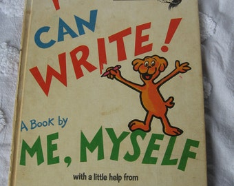 Rare dr. suess I can write a book by me myself theo le sieg roy mckie bright and early OBO