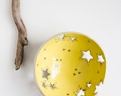 reserved for Bridget, REACHING the STARS, remaining payment for customised yarn bowl in celadon green