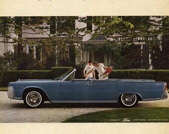 Lincoln Continental Convertible- Magazine Ad, 1965