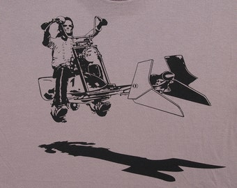 Star Wars easy rider speeder bike on mens organic t shirt- american apparel cinder, available in S,M, L ,XL, XXL- WorldWide shipping