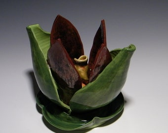 Blooming - Ceramic Sculpture, Decorative flower