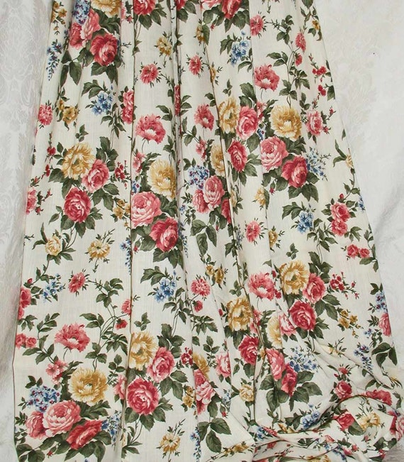 "Floral Dressmaking Fabric in Linen Viscose 56"" Wide - 2 Yards"