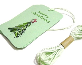 Merry Christmas Tags - Set of 8