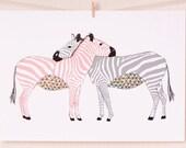 Zebra Love Digital Print
