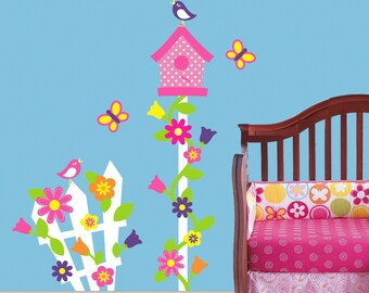 Children Wall Decal Bird House Decor Nursery