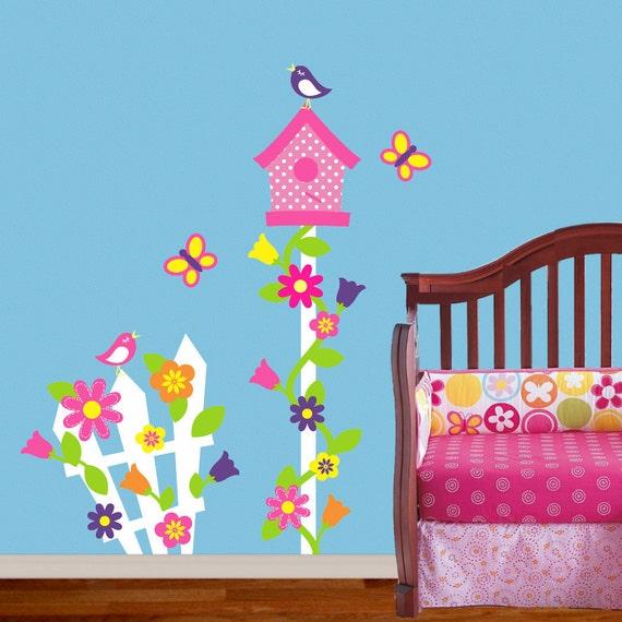 Children Wall Decal Bird House Decor Nursery