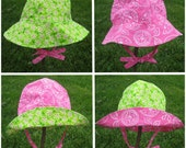 4 in 1 Sun Hat: Sun Hat Pattern, PDF Sewing Pattern