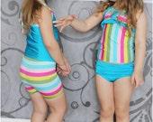 Santa Monica Sweetheart Tankini-  Girls Swimsuit Pattern, Baby Swimsuit, Toddler Swimsuit
