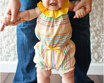 Gracie Romper: Girls Romper PDF Pattern, Baby Romper PDF Pattern, Toddler Romper PDF Pattern