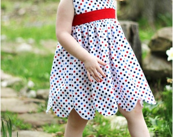 Annie Petal Dress: Girls Dress PDF Pattern, Baby & Toddler Dress PDF Pattern