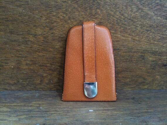 Vintage English Retro Pigskin Key Ring
