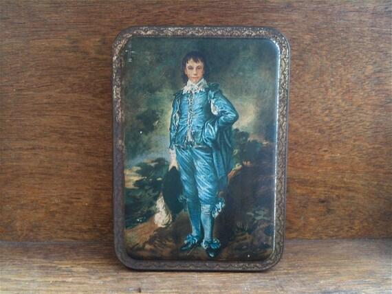 Vintage English Cadbury Chocolate Tin Box The Blue Boy circa 1940-50's / English Shop