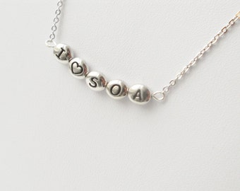 I love SOA necklace, I heart SOA, gifts for women, womens fashion, layering necklaces, valentines day gift, mothers day gift, gifts under 25