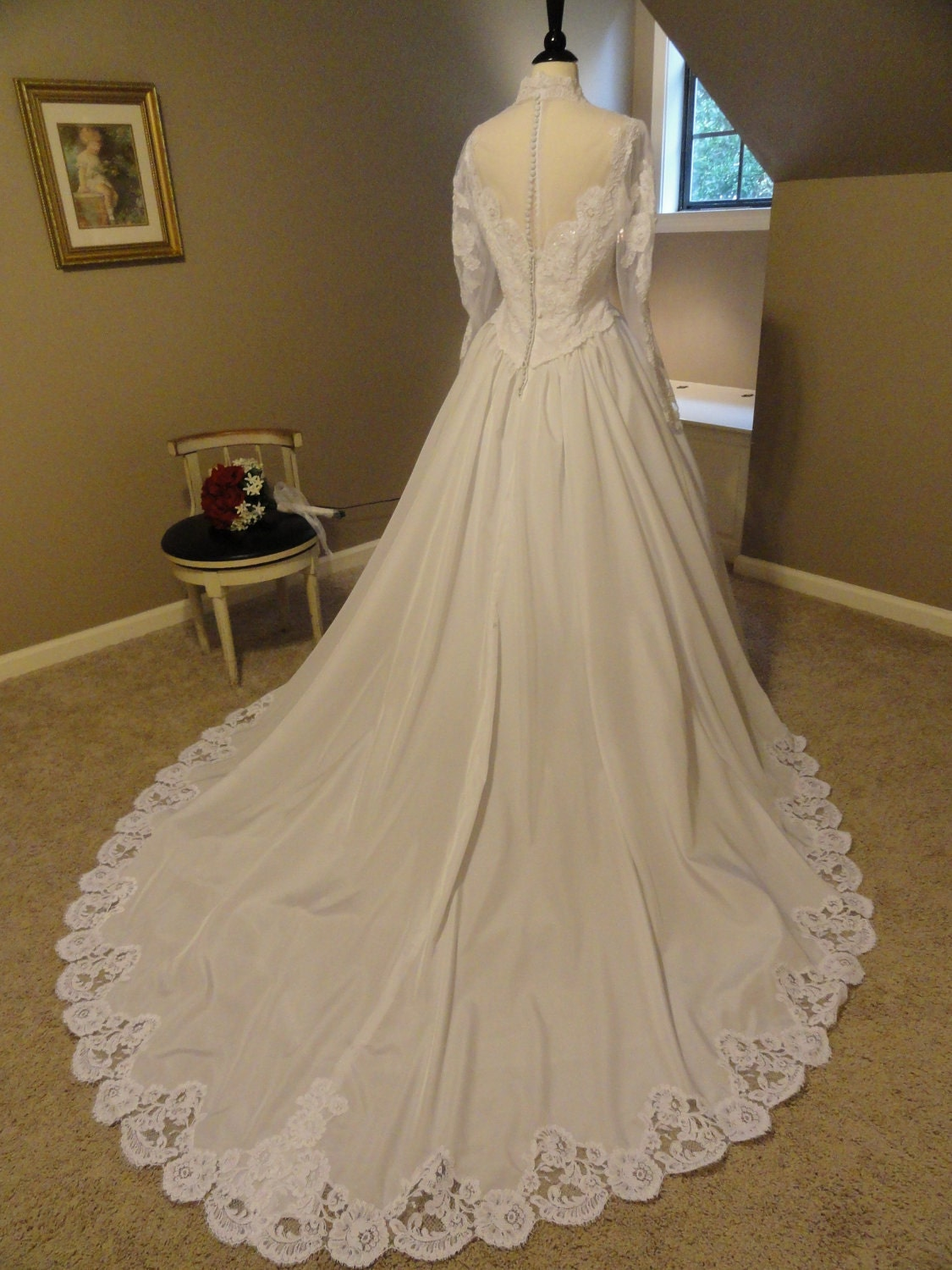 Reserved House Of Bianchi 1980s Wedding Dress With Lace
