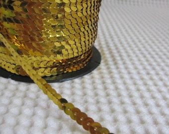 5 Yards Gold Sequin Trim - 18