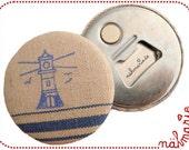 Vintage magnet & bottle opener // Lighthouse
