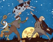 Moon Cow Card - Cow Jumps Over the Moon - Maud and Miska Petersham