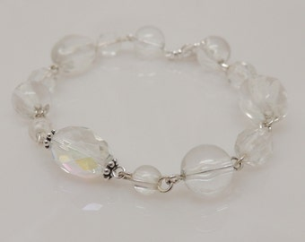 Crystal Bracelet with New and Vintage Beads