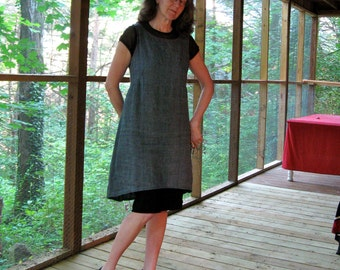 CUSTOM Jumper with O Back, Linen Dress or Jumper