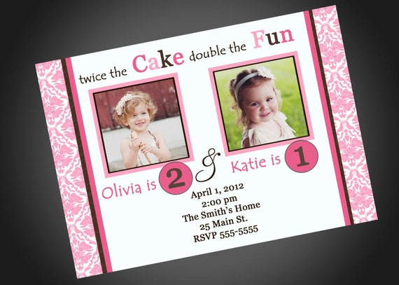Joint Party Girls Birthday Invitation